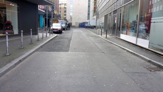 Reineckstrasse: Andienungsbereich Kaufhaus vor Umgestaltung