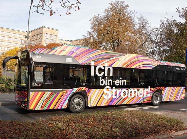 1. E-Bus auf der Linie 75,  Frankfurt/M, 06.11.2018